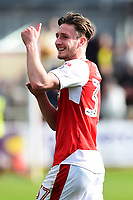 Fleetwood Town&rsquo;s Ben Davies celebrates at the end of the match<br /> <br /> Photographer Richard Martin-Roberts/CameraSport<br /> <br /> The EFL Sky Bet League One - Fleetwood Town v Millwall - Monday 17th April 2017 - Highbury Stadium - Fleetwood<br /> <br /> World Copyright &copy; 2017 CameraSport. All rights reserved. 43 Linden Ave. Countesthorpe. Leicester. England. LE8 5PG - Tel: +44 (0) 116 277 4147 - admin@camerasport.com - www.camerasport.com