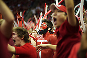 An NC Sate fan sports a Richard Howell fake beard at PNC Arena, Raleigh, NC, Jan. 12, 2013. The Wolfpack defeated the Blue Devils 84-76.