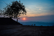 Sunrise in Bokapahari village in Jharia, outside of Dhanbad in Jharkhand, India.   Photo: Sanjit Das/Panos