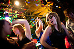 "Teens celebrate Christiana Troeger-Johnson's ""Sweet 16"" at a private party in the Centric venue in the CommRow building, which used to be the Fitzgerald Casino in downtown Reno, Nevada, July 5, 2012."
