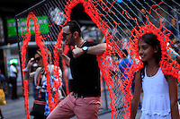 "The Art Installation ""Nearness"" From the Cuban artist Arlés del Rio's is displaying in Times Square New York on July 20, 2014 in New York City. Kena BetancurVIEWpress"