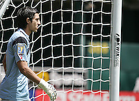 Jaime Penedo. Guadeloupe defeated Panama 2-1 during the First Round of the 2009 CONCACAF Gold Cup at Oakland Coliseum in Oakland, California on July 4, 2009.