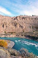 Cariboo Chilcotin Coast Region, BC, British Columbia, Canada - Chilcotin River flowing through Farwell Canyon, Autumn / Fall