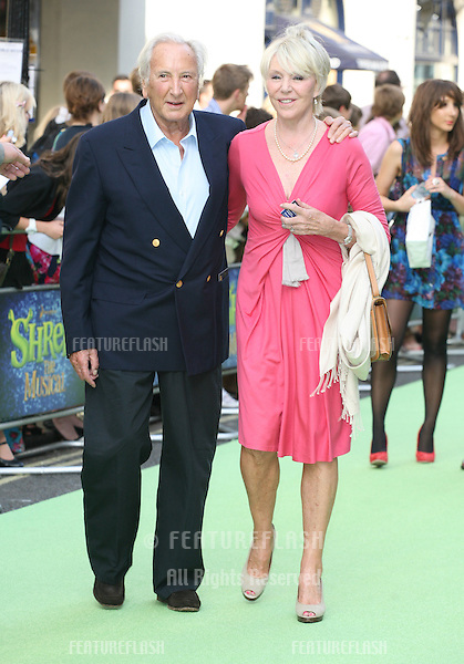 Michael Winner and Geraldine Lynton Edwards attending the Shrek The Musical Press Night, at the The Theatre Royal, London. 14/06/2011  Picture by: Alexandra Glen / Featureflash