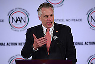 Washington, DC - January 16, 2017: Virginia Governor Terry McAuliffe speaks to attendees of the annual Martin Luther King Holiday Breakfast, hosted by the National Action Network, at the Mayflower Hotel in the District of Columbia, January 16, 2017.  (Photo by Don Baxter/Media Images International)