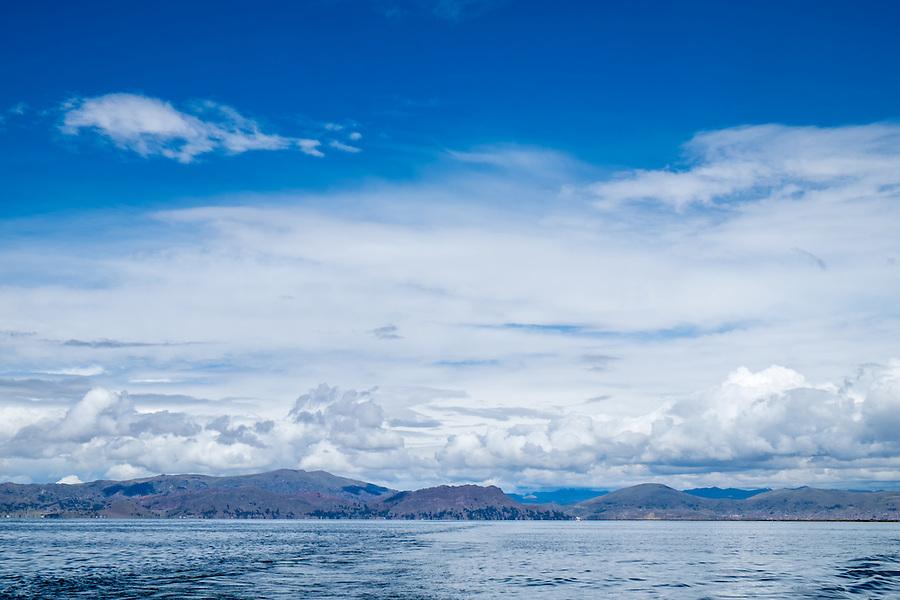 View of lake Titicaca in Peru.