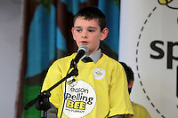 NO FEE PICTURES.8/3/12 Jack Fahy, St Conlath's College, Ballsbridge, taking part in the Dublin County final, part of the overall Eason 2012 Spelling Bee, held at St Olaf's NS, Dundrum. .For further details visit www.easons.com/spellingbee and stay tuned to RTE 2fm. Picture:Arthur Carron/Collins