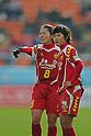 (L-R) Homare Sawa,  Ji So-Yun (Leonessa),.JANUARY 1, 2012 - Football / Soccer :.33rd All Japan Women's Football Championship final match between INAC Kobe Leonessa 3-0 Albirex Niigata Ladies at National Stadium in Tokyo, Japan. (Photo by Katsuro Okazawa/AFLO)