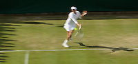 Vera Zvonareva (RUS) (7) against Mathilde Johansson (FRA) in the second round of the ladies singles. Zvonereva beat Johansson 6-1 6-3..Tennis - Wimbledon - Day 3 - Wed  24th June 2009 - All England Lawn Tennis Club  - Wimbledon - London - United Kingdom..Frey Images, Barry House, 20-22 Worple Road, London, SW19 4DH.Tel - +44 20 8947 0100.Cell - +44 7843 383 012
