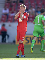 Fussball  1. Bundesliga  Saison 2013/2014  2. Spieltag VfB Stuttgart - Bayer Leverkusen     17.08.2013 Stefan Kiessling (Bayer 04 Leverkusen) enttaeuscht