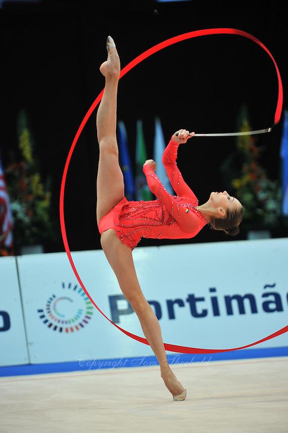 Viktoria Shynkarenko of Ukraine performs at 2011 World Cup at Portimao, Portugal on April 30, 2011.  .
