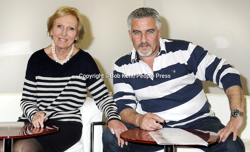London - Celebrity Chefs Paul Hollywood and Mary Berry at the Cake International Show - Day 2, Excel, London - April 13th 2013..Photo by Bob Kent.