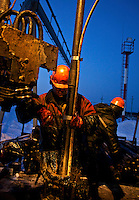 A LUKoil worker repairs a drilling well in the Russian Arctic. /Felix Features