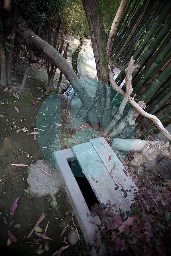 April 27th 2011_Anlong Village, Sichuan, China_ Views of a grey water sewage treatment system, which uses a series of natural plants, water flow and fish ponds on an organic farm in the village of Anlong in China's Sichuan provence.  Photographer: Daniel J. Groshong/The Hummingfish Foundation