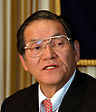 January 25, 2012, Tokyo, Japan - Katsuyuki Haranaka, president of the Japan Medical Association, expresses his opinion against the Trans-Pacific Partnership trade agreement, during a news conference at Tokyo's Foreign Correspondents Club of Japan on Wednesday, January 25, 2012. While Japan's government believes it must seize this opportunity to modernize the Japanese economy and farm sector to keep pace with the rest of the world, and consumers may benefit from reduced food costs and more effective medications, opinion in Japan remains divided on trade liberalization. Haranaka said JMA, representing some 166,000 doctors and physicians across Japan, is worried that poorly supervised liberalization in their field could jeopardize Japanese people's well-being and put an end to the country's supremacy in the field of the average life expectancy for both men and women. (Photo by Natsuki Sakai/AFLO)