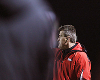 Sasho Cirovski head coach of the University of Maryland during an NCAA 3rd. round match against Penn State at Ludwig Field, University of Maryland, College Park, Maryland on November 28 2010.Maryland won 1-0.