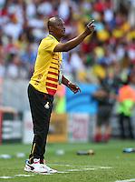 Ghana coach James Appiah gestures on the touchline