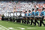 15 September 2007: The UNC Marching Band drum corps. The University of Virginia Cavaliers defeated the University of North Carolina Tar Heels 22-20 at Kenan Stadium in Chapel Hill, North Carolina in an Atlantic Coast Conference NCAA College Football Division I game.
