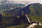 Great Wall of China aerial landscape scenery in Badaling, Beijing, China.