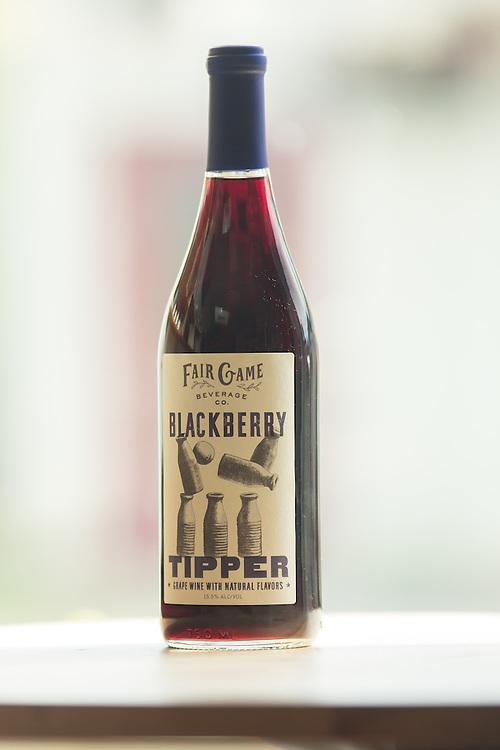 Pittsboro, North Carolina - Friday March 18, 2016 - Fair Game Beverage Company's Blackberry wine.