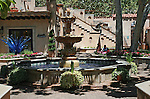 Fountain in Tlaquepaque Shoppiog Center, Sedona, Arizona.