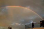 Israel, a rainbow over Mary of Nazareth International Center