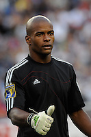 Haiti (HAI) goalkeeper Jean Dominique Zerphirin (18). The United States and Haiti played to a 2-2 tie during a CONCACAF Gold Cup Group B group stage match at Gillette Stadium in Foxborough, MA, on July 11, 2009. .