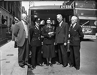 Cork Receives new Red Cross Ambulance.10/06/1958<br />