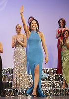 12 July, 2008:    Miss Emerald City Ada Rose Williams waves to the crowd after she was awarded a scholarship during the 2008 Miss Washington pageant at the Pantages Theater in Tacoma , Washington.