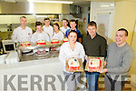 Tralee Community Training Centre are presenting six christmas cakes to SVP on Friday. Pictured front l-r Nesha Purcell, Junior Locke, SVP, Paddy kavanagh. Back l-r Ger Carey, Rebecca Donovan, Sarah O'Brien, Salvdor Vathajj Patrick O'Brien, John O'Brien