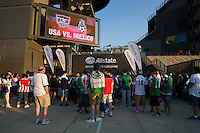 Allstate. Sponsors. The USMNT tied Mexico, 1-1, during the game at Lincoln Financial Field in Philadelphia, PA.