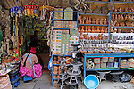 South America, Bolivia, La Paz. Scene from the Witch Doctor's Market of La Paz.