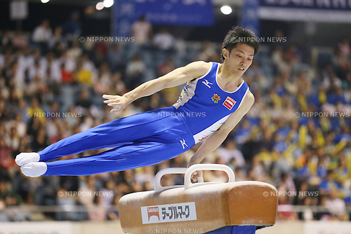 Kazuhito Tanaka, <br /> MAY 17, 2015 - Artistic Gymnastics : <br /> The 54th NHK Cup <br /> Men's Individual All-Around <br /> Pommel Horse <br /> at Yoyogi 1st Gymnasium, Tokyo, Japan. <br /> (Photo by YUTAKA/AFLO SPORT)
