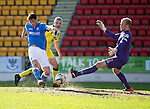 St Johnstone v St Mirren....21.03.15<br /> Brian Graham puts the ball past Mark Ridgers to scores saints first goal<br /> Picture by Graeme Hart.<br /> Copyright Perthshire Picture Agency<br /> Tel: 01738 623350  Mobile: 07990 594431