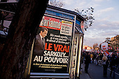 Paris, France.November 14, 2007..Several thousands people demonstrate on a nationwide day of strikes. French unions launch open-ended strikes in public transport (SNCF, RATP, ...), power utilities and elsewhere, education, hospitals, in a major test for President Nicolas Sarkozy's reform plans. They protest against the scrapping of pension privileges that allow some public employees to retire as early as age 50...
