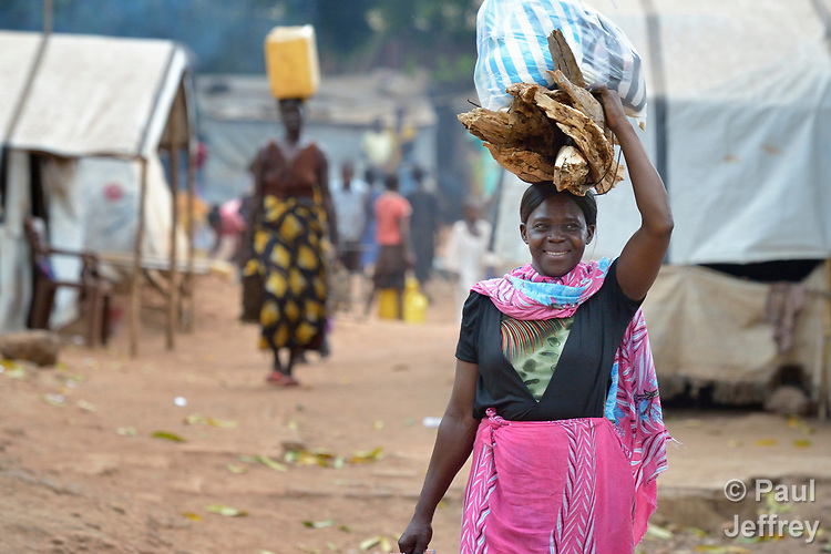 Women walk through a camp for more than 12,000 internally displaced persons located on the grounds of the Roman Catholic Cathedral of St. Mary in Wau, South Sudan. Most of the families here were displaced in June, 2016, when armed conflict engulfed Wau.<br /> <br /> Norwegian Church Aid, a member of the ACT Alliance, has provided relief supplies to the displaced in Wau, and has supported the South Sudan Council of Churches as it has struggled to mediate the conflict in Wau.