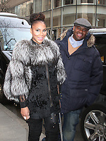 Tamar Braxton and Vince Herbert Seen in NYC
