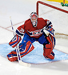16 January 2007: Montreal Canadiens goaltender Cristobal Huet of France in action against the Vancouver Canucks at the Bell Centre in Montreal, Canada. The Canucks defeated the Canadiens 4-0.
