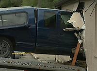 Pickup truck crashes into bar