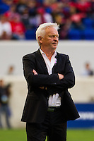 New York Red Bulls head coach Hans Backe. The Chicago Fire defeated the New York Red Bulls 2-0 during a Major League Soccer (MLS) match at Red Bull Arena in Harrison, NJ, on October 06, 2012.