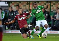 FUSSBALL   1. BUNDESLIGA   SAISON 2013/2014   7. SPIELTAG SV Werder Bremen - 1. FC Nuernberg                    29.09.2013 Timoty Chandler (li, 1. FC Nuernberg) gegen Cedrick Makiadi (re, SV Werder Bremen)