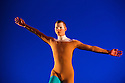 """Michael Clark Company in a piece set to """"Albatross"""" by Public Image Limited, at the Barbican. Dancers are: Harry Alexander, Julie Cunningham, Melissa Hetherington, Oxana Panchenko, Daniel Squire and Benjamin Warbis.  Picture shows: Benjamin Warbis. Photograph © Jane Hobson."""
