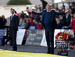Ross County v St Johnstone&hellip;..30.04.16  Global Energy Stadium, Dingwall<br />Tommy Wright appeals for a free kick<br />Picture by Graeme Hart.<br />Copyright Perthshire Picture Agency<br />Tel: 01738 623350  Mobile: 07990 594431