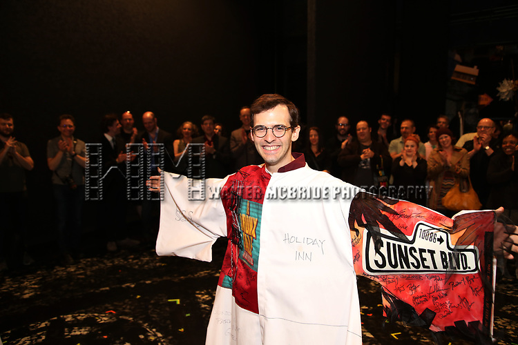 Joseph Medeiros during the Actors' Equity Opening Night Gypsy Robe Ceremony honoring Joseph Medeiros for 'Groundhog Day' at the August Wilson Theatre on April 17, 2017 in New York City