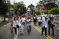 New York, USA. 23 August 2014. Thousands attend a rally against police brutality in Staten Island.  Eduardo Munoz Alvarez/VIEWpress