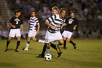 The number 5 ranked Charlotte 49ers play the University of South Carolina Gamecocks at Transamerica field in Charlotte.  Charlotte won 3-2 in the second overtime.  Jennings Rex (17)