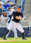 5 March 2011: New York Yankees' outfielder Brett Gardner in action during a Spring Training game against the Washington Nationals at George M. Steinbrenner Field in Tampa, Florida. The Nationals defeated the Yankees 10-8 in Grapefruit League action. Mandatory Credit: Ed Wolfstein Photo