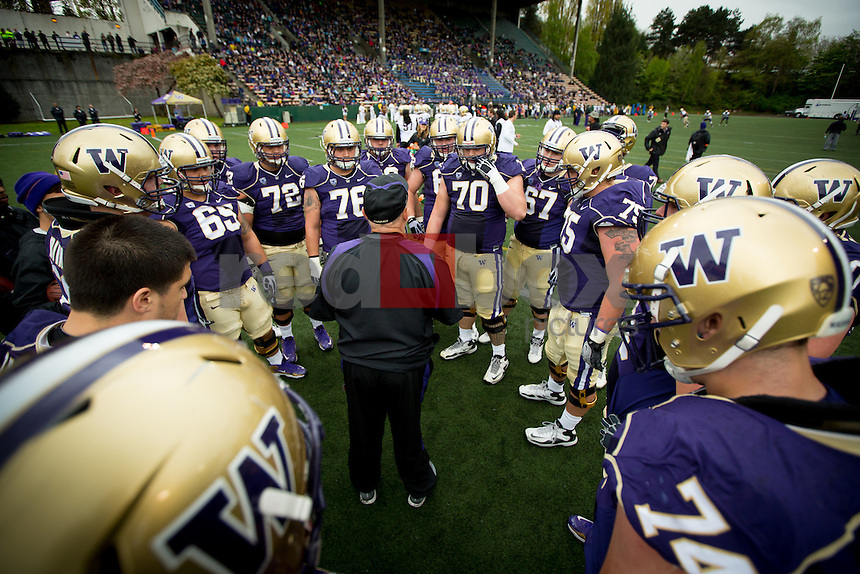 The 2013 University of Washington spring football game at Memorial Stadium on Saturday April 20, 2013. (Photo by Scott Eklund /Red Box Pictures)