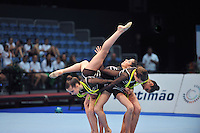 Portugal junior group performs 5-ropes routine during gala exhibition at 2011 World Cup at Portimao, Portugal on April 29, 2011.