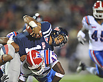Ole Miss quarterback Randall Mackey (1) vs. Louisiana Tech's Javontay (47) in Oxford, Miss. on Saturday, November 12, 2011.